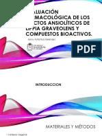 Evaluación Farmacológica de Los Efectos Ansiolíticos de Lippia