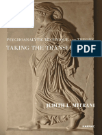 Psychoanalytic Technique and Transference