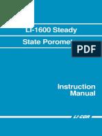 Manual LI 1600 en Porometer Manual
