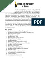 Petroleum Authority of Uganda Oil Jobs