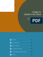 eBook - 3 Steps to Quality in the Cloud