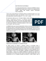 Porcentaje de Desnutricion en Guatemala