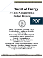 2015 Department of Energy Budget