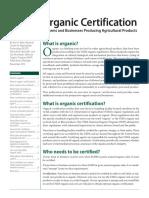 ORGANIC CERTIFICATION USDA