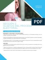 Sección 2 Sujetos Del Proceso Electoral