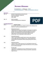 koreen klassen - resume
