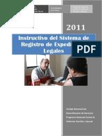 Instructivo Del Sistema de Registro de Expedientes Legales Del Cem