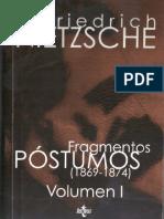 Nietzsche Fragmentos Póstumos I