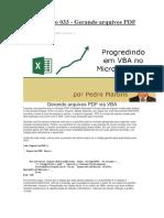 Gerando Arquivos PDF via VBA