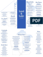 Land & Lake 2-Sided Menu