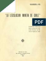 la legislación minera de chile