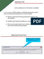 5S Audit Spreadsheet Entry.ppt