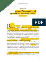 Jean Cocteau-Raymond Roussel o El Genio en Estado Puro