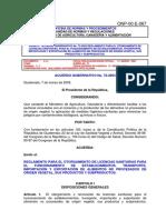 Acuerdo Gubernativo No. 72-2003