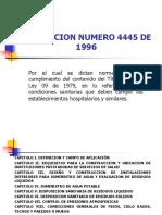 Resolución 4445 de 1996