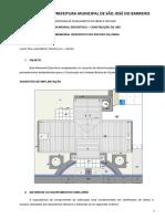 Memorial Descritivo - Contrução de UBS