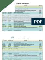 Calendar i o Academic o 2017 Definitivo