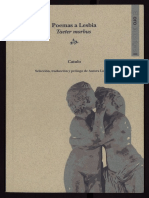 Poemas a Lesbia - Taeter morbus  - Catulo