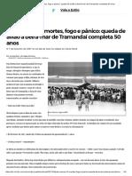 Pelo Menos 10 Mortes, Fogo e Pânico_ Queda de Avião à Beira-mar de Tramandaí Completa 50 Anos