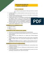 Resumo de Leis Especiais Para Concursos Militares