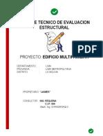 Informe de Evaluacion Estructural Edif.mult. La Molina 2015