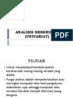 ANALISIS DESKRIPTIF (UNIVARIAT)