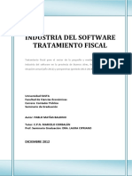 INDUSTRIA DEL SOFTWARE  TRATAMIENTO FISCAL