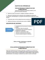 Objetivos de Aprendizaje_evaluación de Procesos Formativos