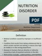 Nutrition Disorder Presentation