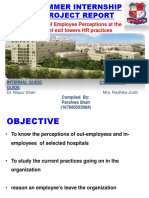 Summer Internships Project on Base on Employees Exit at Health-care Sector