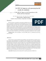 Acercamiento a La NIC 41. Impacto en La Presentación Del Estado de Resultados