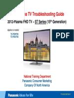 Panasonic 2012 PDP Troubleshooting Guide ST50 ST Series [TM]