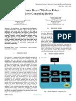 Flex Sensor Based Wireless Robot