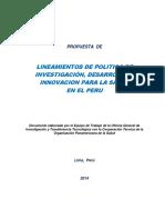 M III_Lineamiento de Politica e Investigacion, Des e Innov Para Salud en Peru