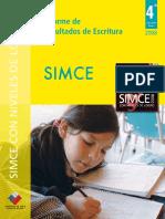 SIMCEInforme Escritura 4to Basico 2008