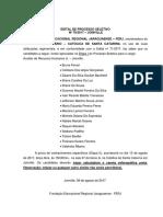 Edital 79.2017 Resultado Etapa I Auxiliar de Recursos Humanos Jr. Joinville