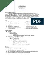 kine 495- resume