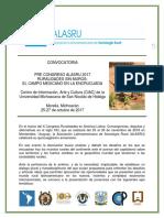 Convocatoria Pre-ALASRU 2017