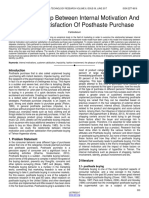 The Relationship Between Internal Motivation and Customer Satisfaction of Posthaste Purchase