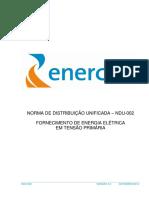 NORMA DE DISTRIBUIÇÃO UNIFICADA – NDU-002 (ENERGISA)