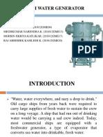 Fresh Water Generator GME 37