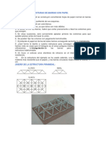 Cómo Hacer Estructuras de Barras Con Papel