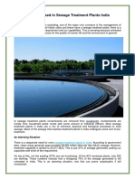 Key Tech Used in Sewage Treatment Plants India