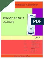 Servicio de Agua Caliente