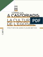 Cornelius Castoriadis, Christopher Lasch - La culture de l'égoïsme .pdf