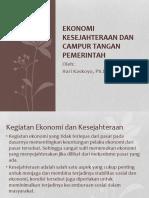 ESDH Tropika Ke-7 Ekonomi Kesejahteraan Dan Campur Tangan Pemerintah