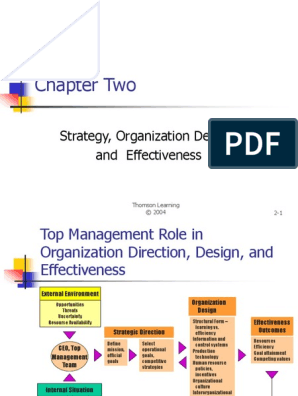 Chapter Two Strategy Organization Design And Effectiveness Strategic Management Goal