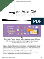 Ejemplo de Plan de Marketing Online Para Empresa_ 35 Ideas