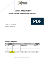 6.0 Capital Drilling Consultation and Communication