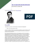 Evgeny Pashukanis y La Superación Marxista Del Derecho